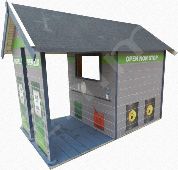 Detsky dreveny domček benzinka Enim, Rožnava