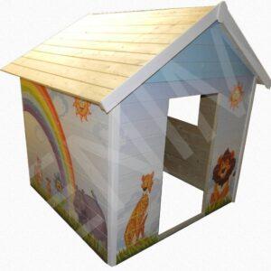 Fa játszóház gyerekek részére SZIVÁRVÁNY 1,5 m x 1,5 m