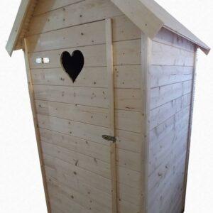 Fa latrina/kerti toalett/árnyékszék  1 m x 1 m