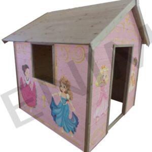 Fa játszóház gyerekek részére HERCEGNŐ 1,5 m  x 1,5 m