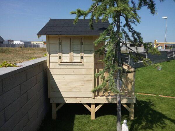 fa házikó, játszóház, gyerek ház