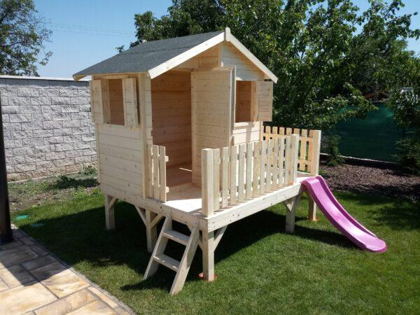 gyerek ház, fa házikó, játszóház